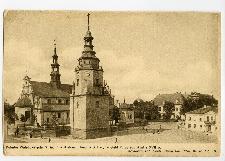Katedra Wniebowięcia N.M.P. w Kielcach, fund. w XII w., w głębi Pałac pobiskupi z XVII w.