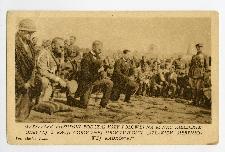 """Marszałek Piłsudski podczas mszy polowej na Rynku kieleckim odbytej z racji corocznej uroczystości """"Szlakiem sierpniowej kadrówki"""""""