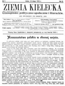 Ziemia Kielecka. Czasopismo polityczno-społeczne i literackie 1916, R.2, nr 7