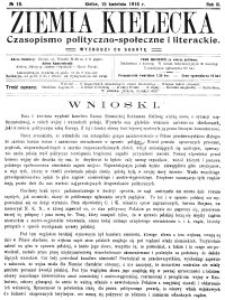 Ziemia Kielecka. Czasopismo polityczno-społeczne i literackie, 1916, R.2, nr 11