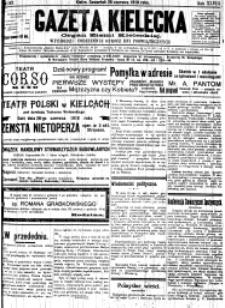 Gazeta Kielecka, 1919, R.50, nr 172