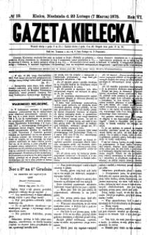 Gazeta Kielecka, 1875, R.6, nr 19