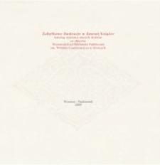 Zabytkowe ilustracje w dawnej książce. Katalog wystawy starych druków ze zbiorów Wojewódzkiej Biblioteki Publicznej im. Witolda Gombrowicza w Kielcach