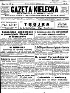Kalendarz wydawnictwa Gazety Kieleckiej na rok 1931