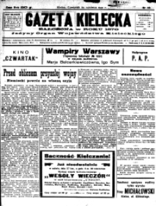 Gazeta Kielecka, 1931, R.62, nr 39