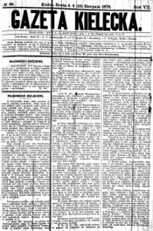Gazeta Kielecka, 1876, R.7, nr 78