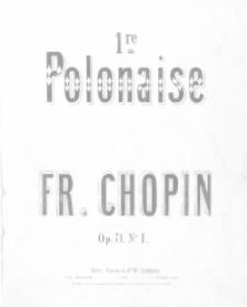 1re Polonaise : op. 71, nr 1