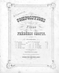 Compositions pour le piano : polonaises