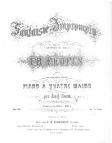 Fantaisie - Impromptu : op. 66 /