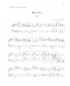 Mazurka : op. 33, nr 22 - 25
