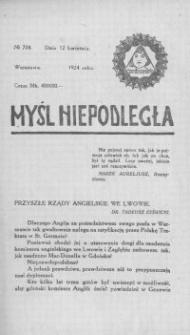 Myśl Niepodległa 1924, nr 717