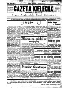 Gazeta Kielecka, 1938, R.69, nr 4