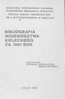 Bibliografia województwa kieleckiego za 1981 rok