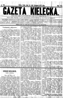 Gazeta Kielecka, 1878, R.9, nr 1