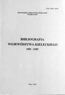 Bibliografia województwa kieleckiego 1982 - 1983