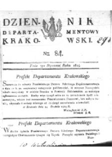 Dziennik Departamentowy Krakowski 1814