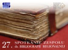 Bibliografia regionalna opracowana przez Sądecką Bibliotekę Publiczną im. Józefa Szujskiego w Nowym Sączu