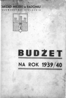 Budżet na rok 1939/40. Radom