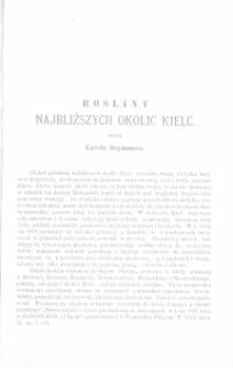 Rośliny najbliższych okolic Kielc