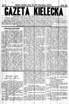 Gazeta Kielecka, 1878, R.9, nr 70